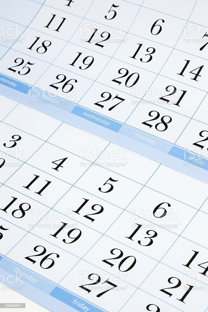 blue calendar stock photo