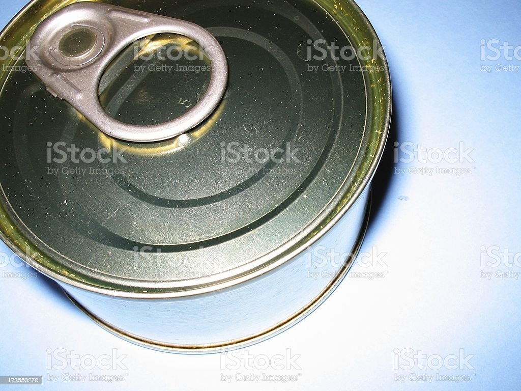 Blue can royalty-free stock photo