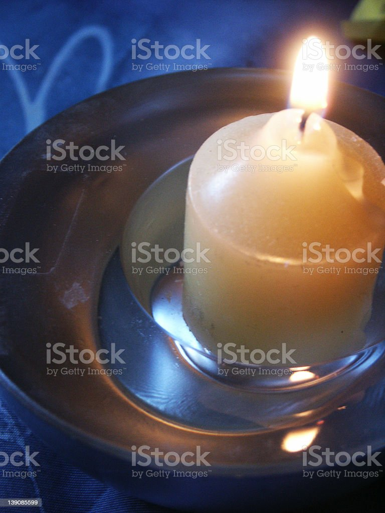 blue candle stock photo