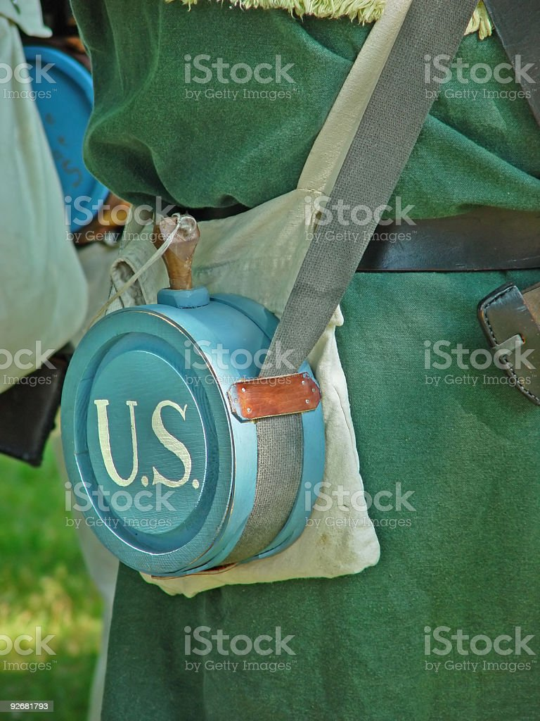 Blue Canteen royalty-free stock photo