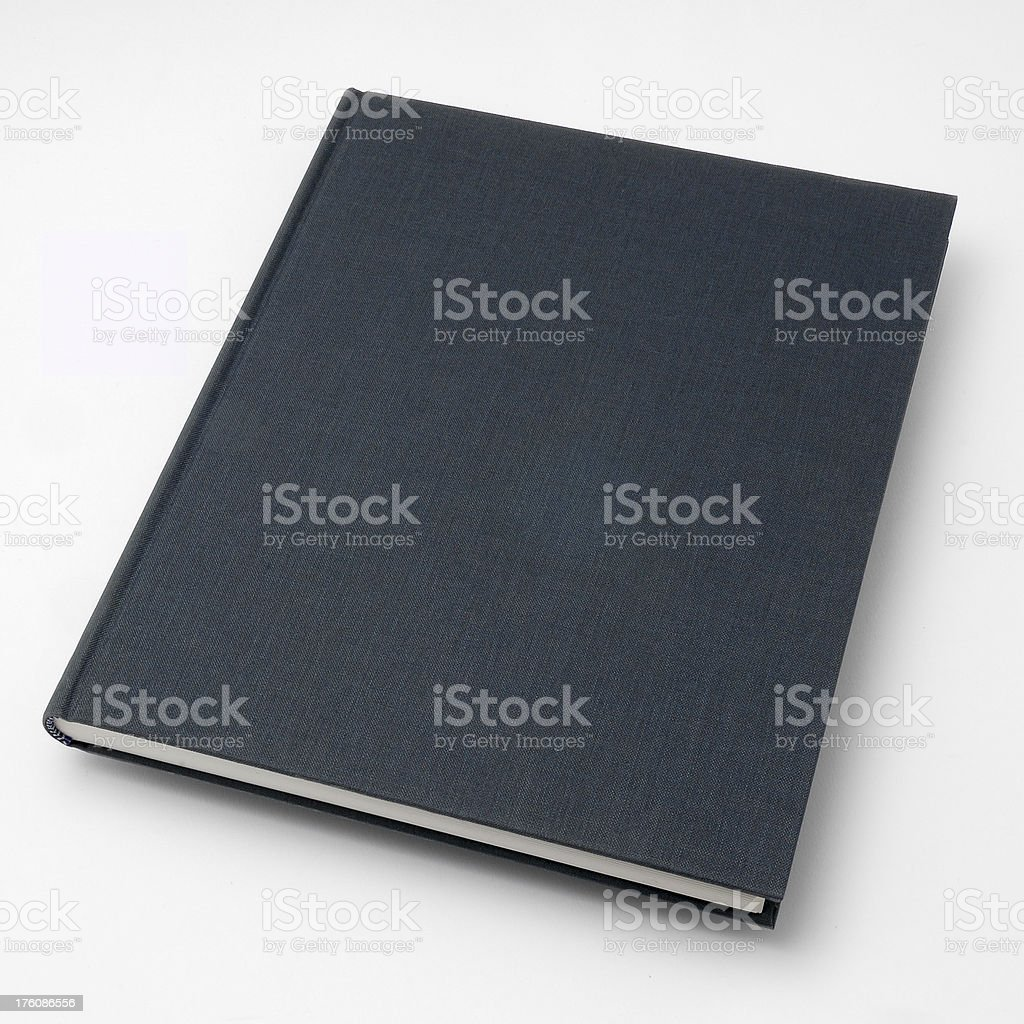Blue canvas book royalty-free stock photo