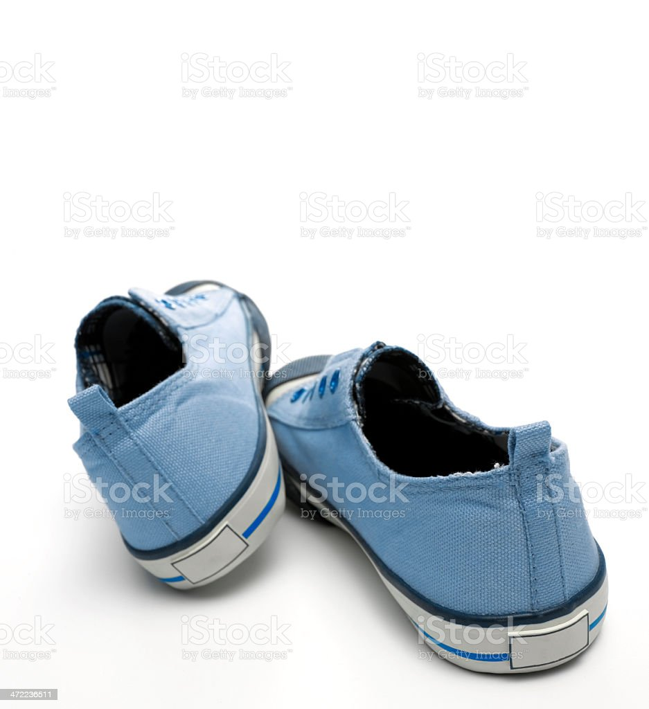 Blue Canvas Pumps royalty-free stock photo