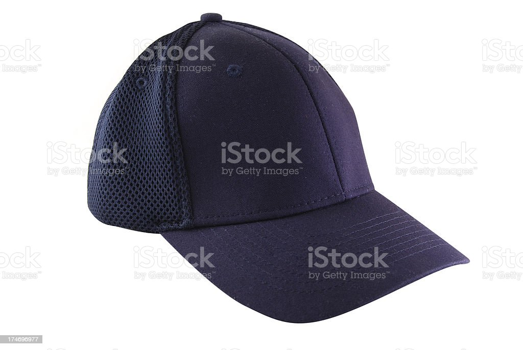 Blue Cap Isolated on a White Background royalty-free stock photo