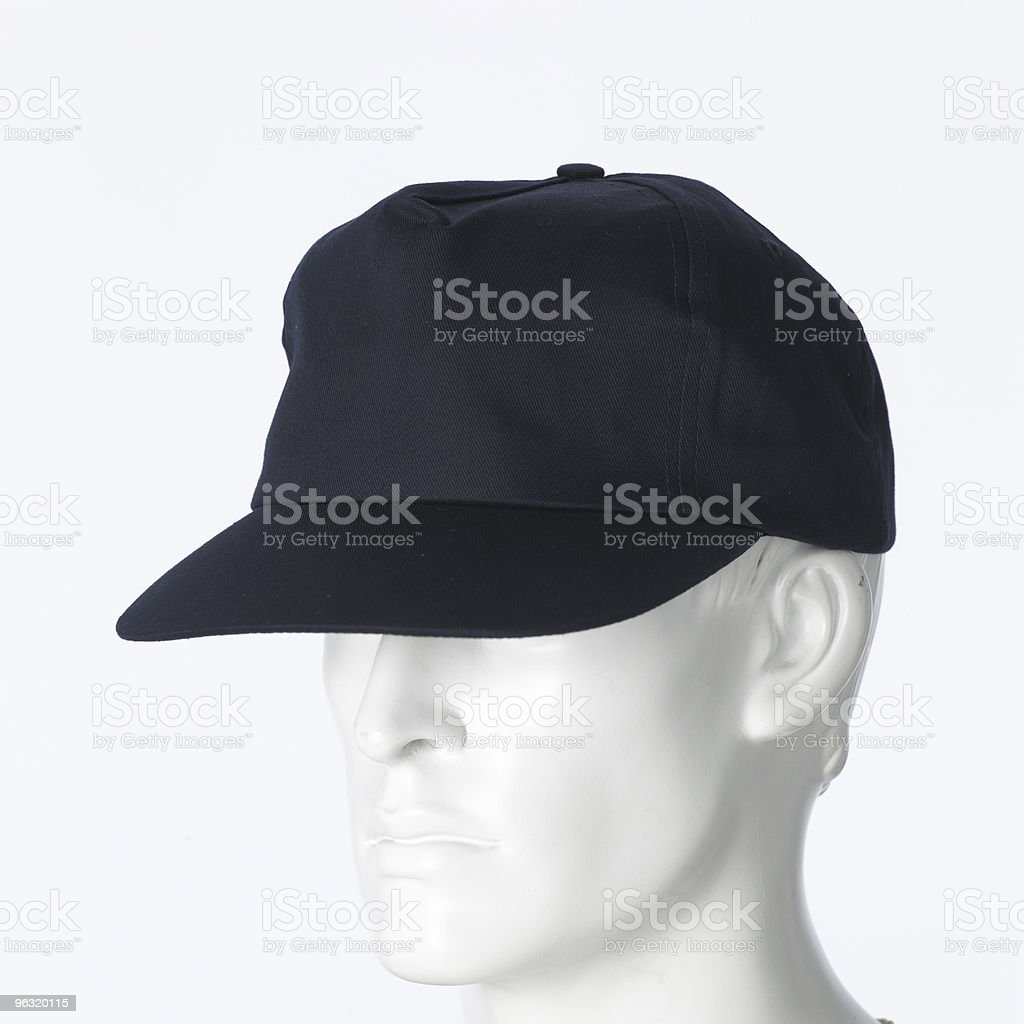 blue cap royalty-free stock photo