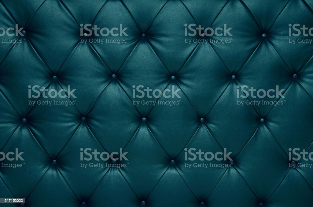 Blue capitone checkered coach leather decoration royalty-free stock photo