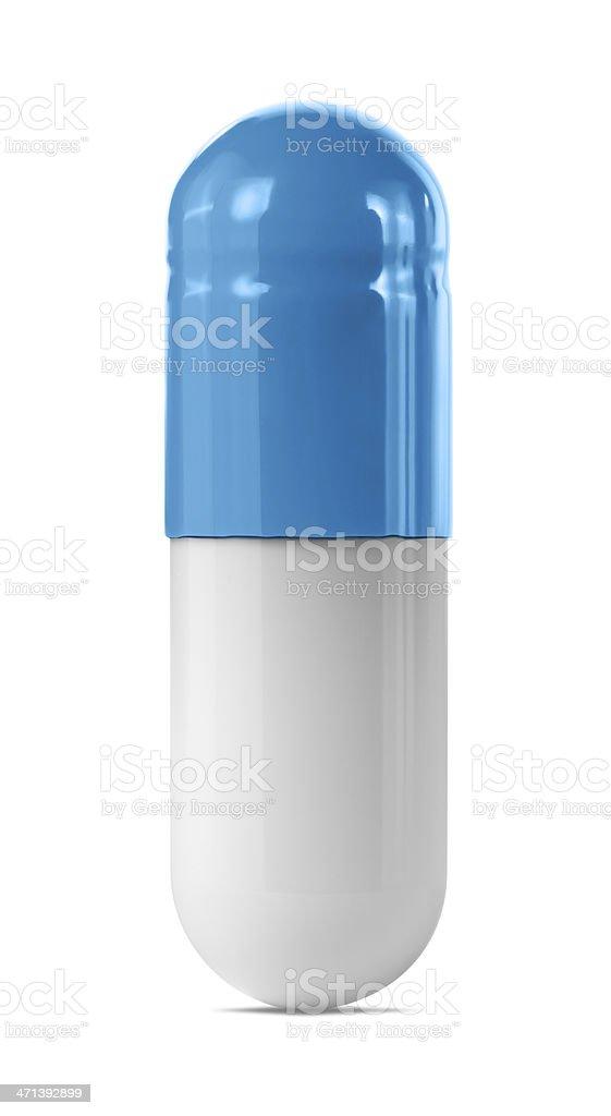 Blue Capsule stock photo
