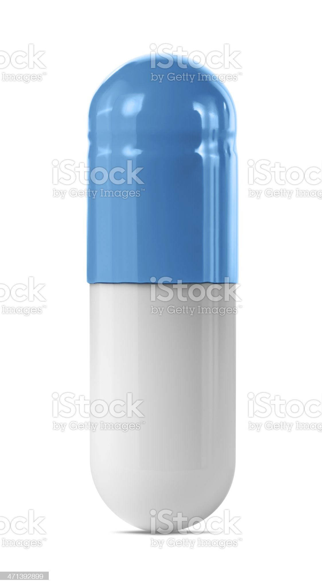 Blue Capsule royalty-free stock photo