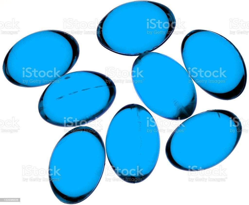 Blue capsules royalty-free stock photo