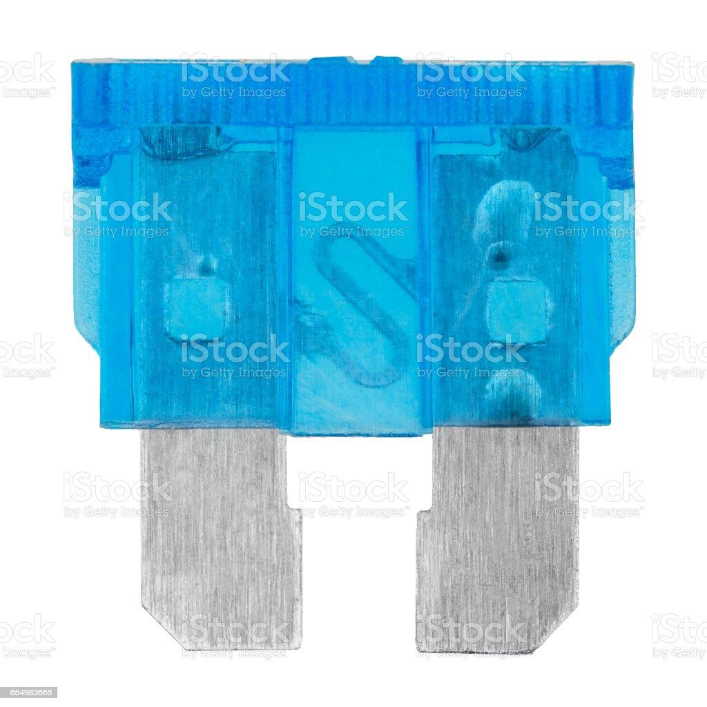 Blue car fuse stock photo