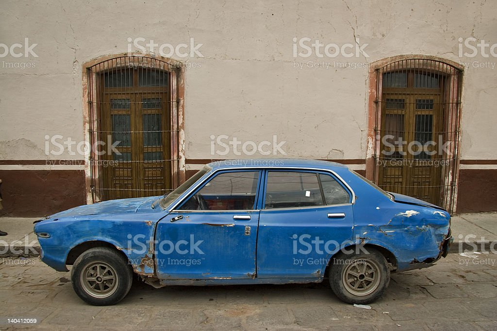 blue car royalty-free stock photo