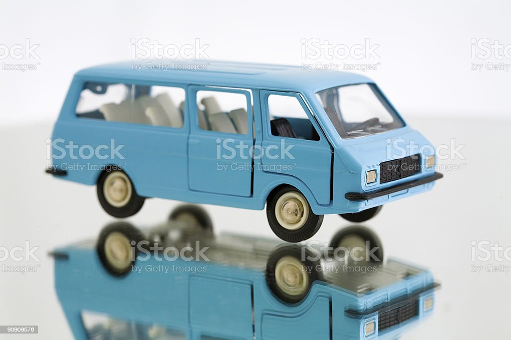 Blue car royalty-free stock photo
