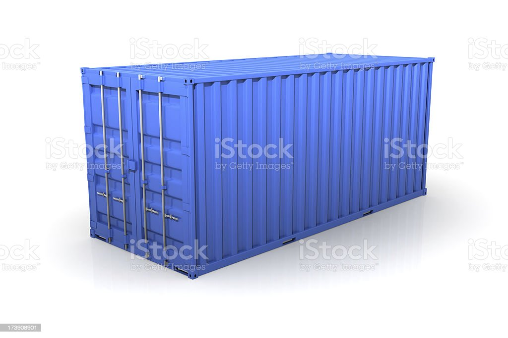 Blue Cargo Container royalty-free stock photo