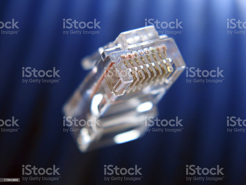 Blue CAT5 Network Cable royalty-free stock photo