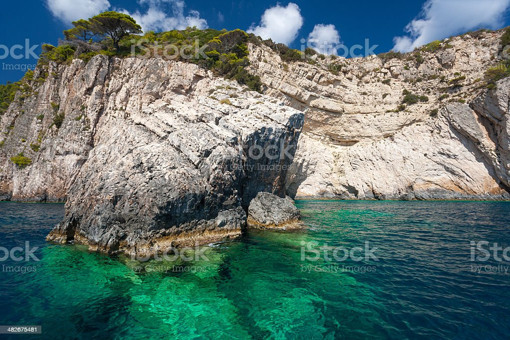 Blue Caves royalty-free stock photo