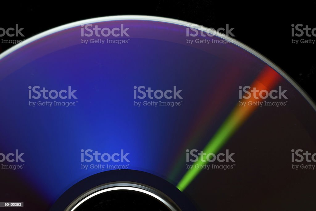 Blue cd royalty-free stock photo