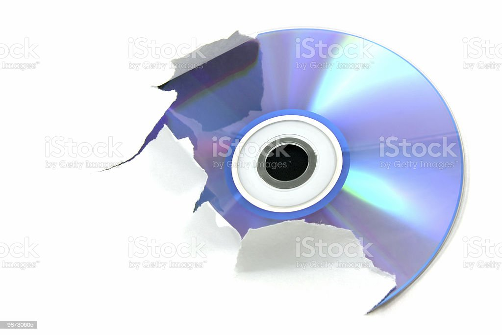 Blue cd stock photo