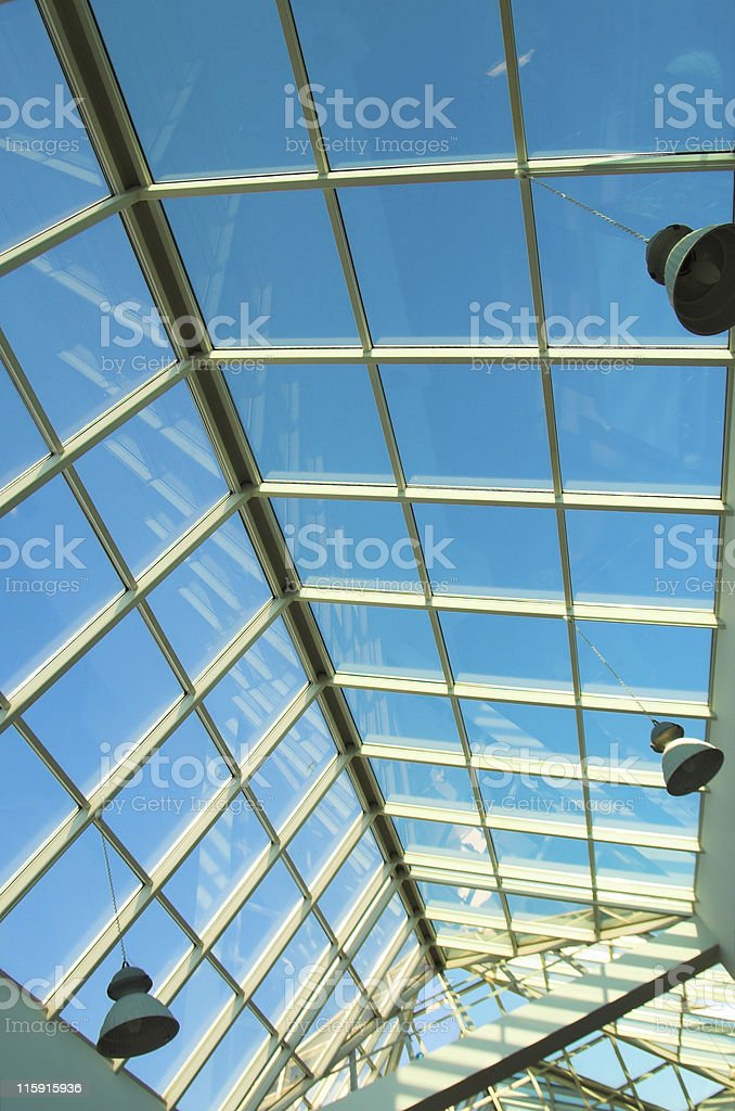 Blue ceiling in the office royalty-free stock photo