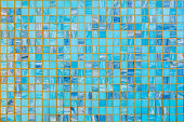 blue ceramic mosaic