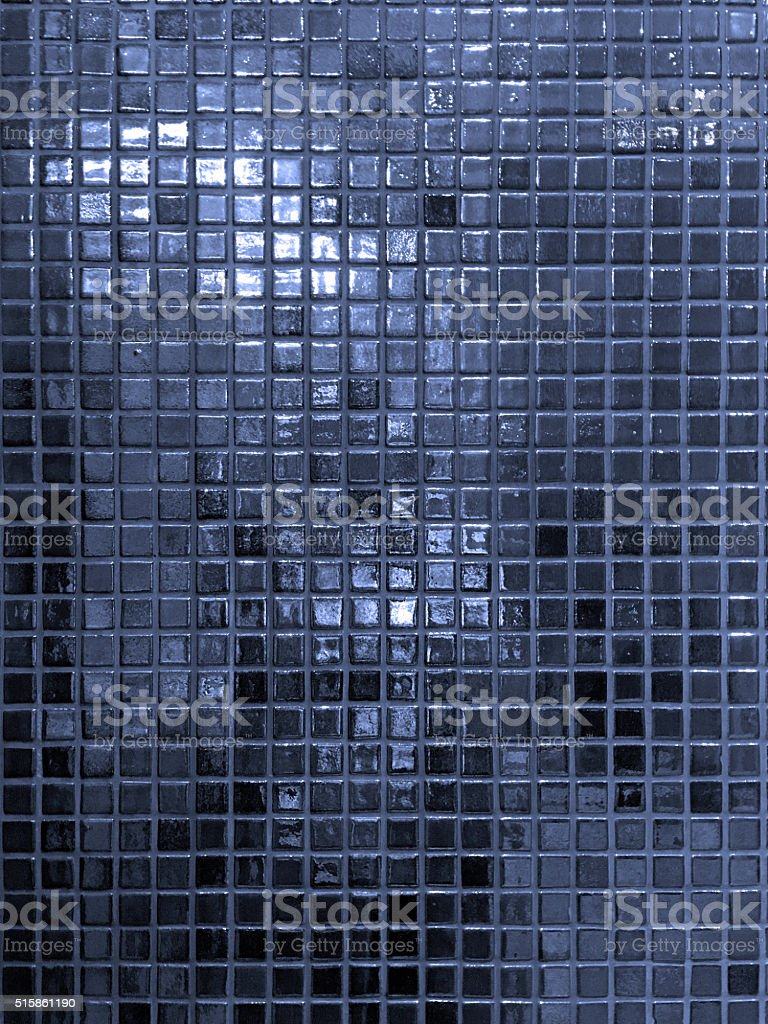 Blue Ceramic tiles a mosaic stock photo