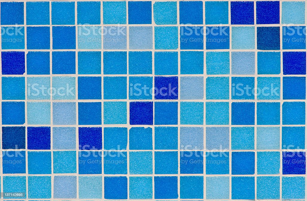 Blue Ceramic Tiles stock photo