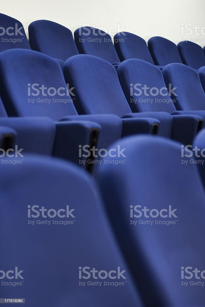 Blue chair seats royalty-free stock photo