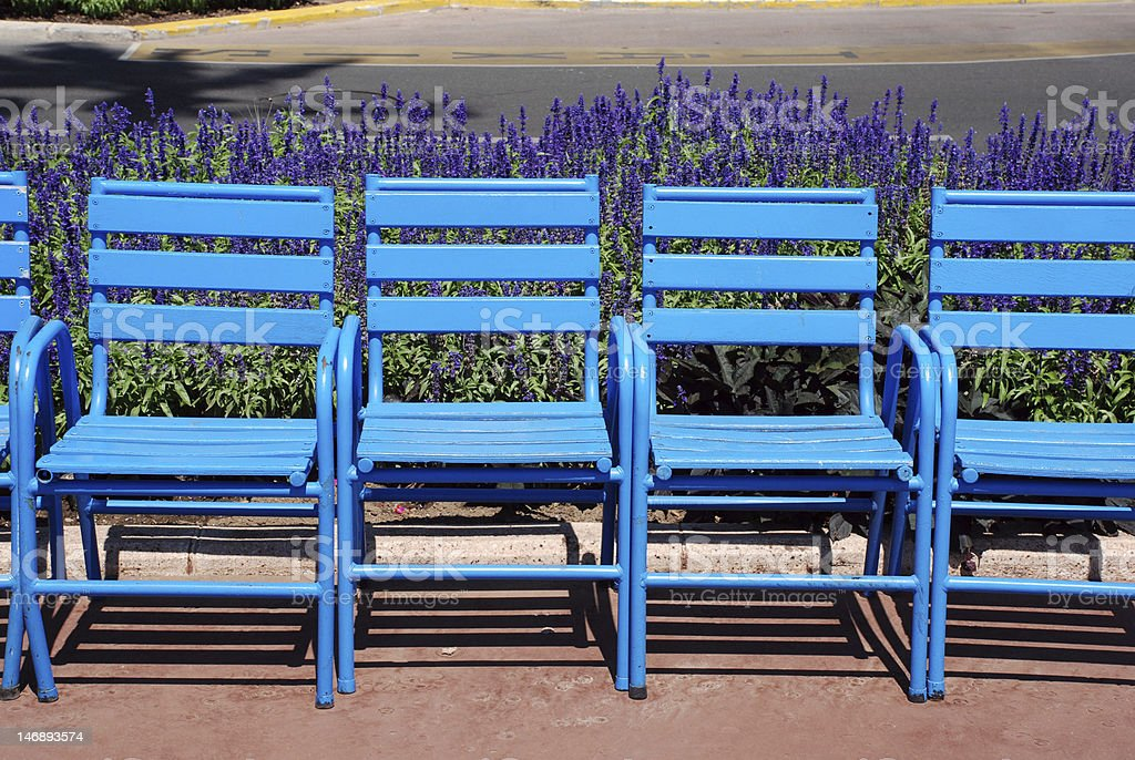 Blue chairs royalty-free stock photo