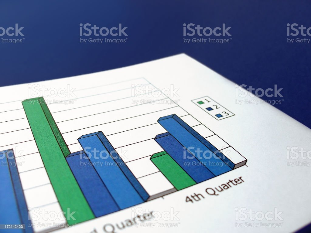 blue chart stock photo