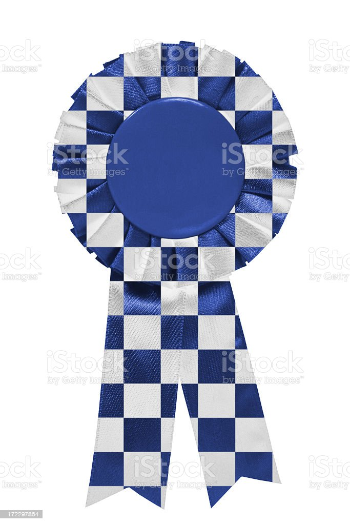 Blue Checkered Car ribbon royalty-free stock photo