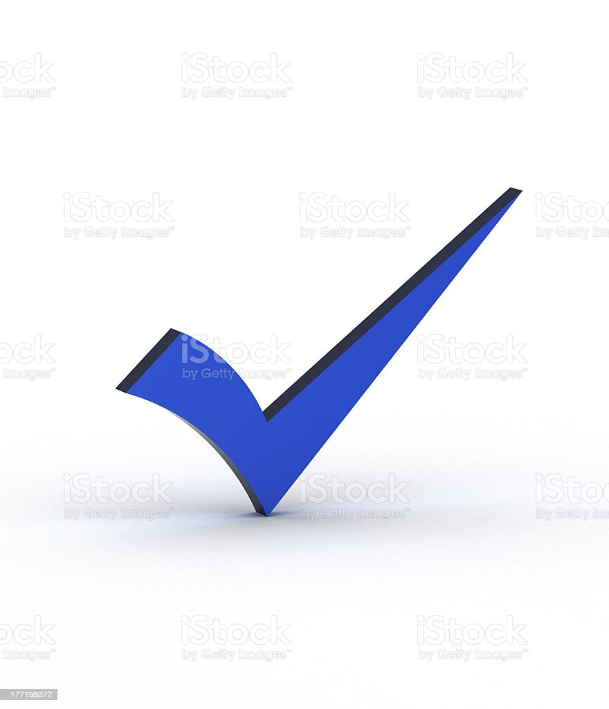 Blue checkmark stock photo