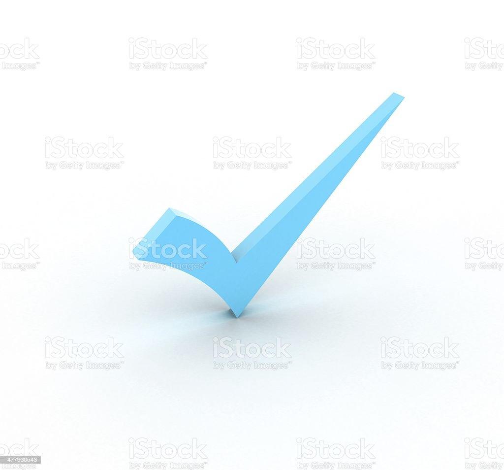 Blue checkmark royalty-free stock photo
