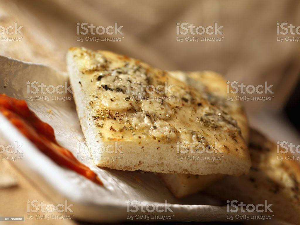 Blue Cheese and Herb Flat Bread royalty-free stock photo