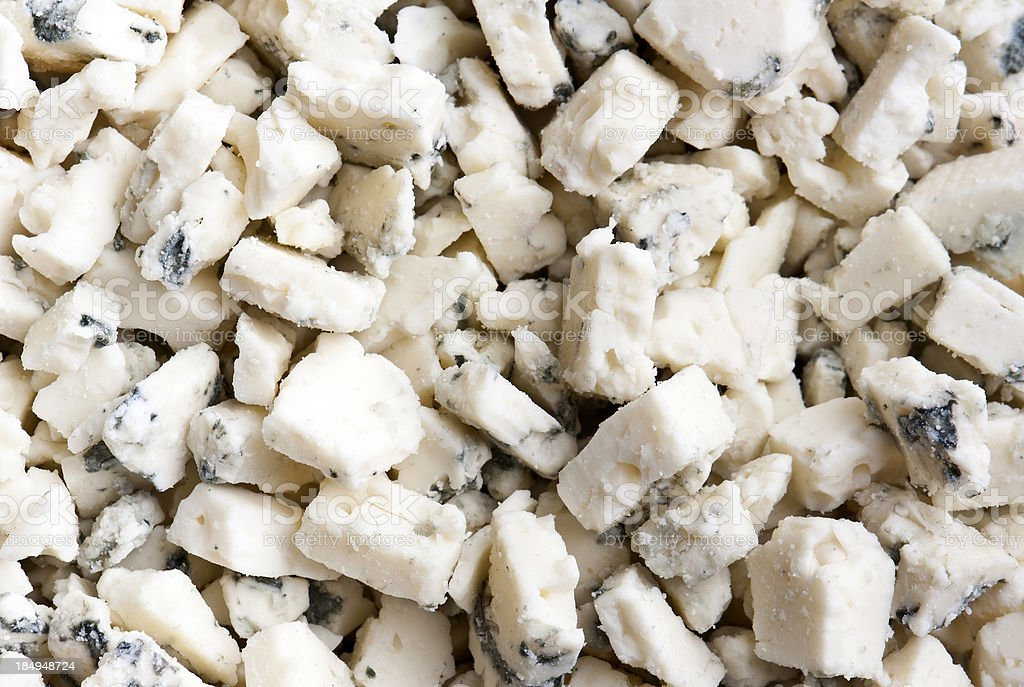 Blue Cheese Crumbles stock photo