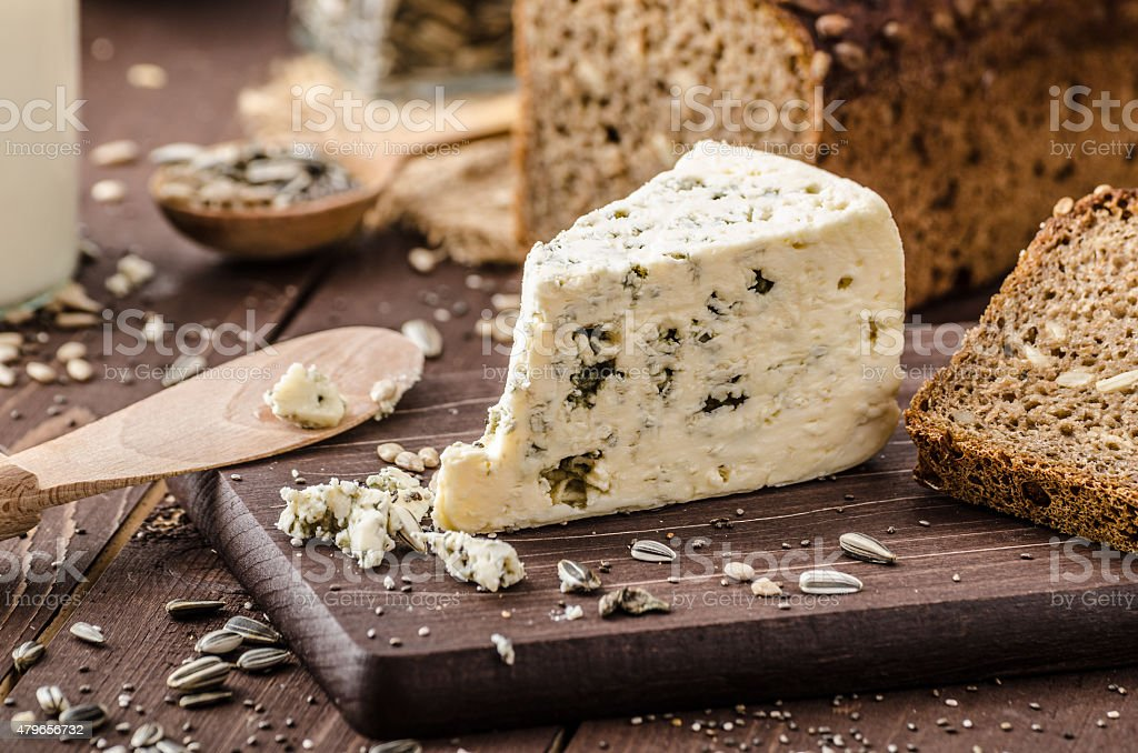 Blue cheese delicious cheese stock photo
