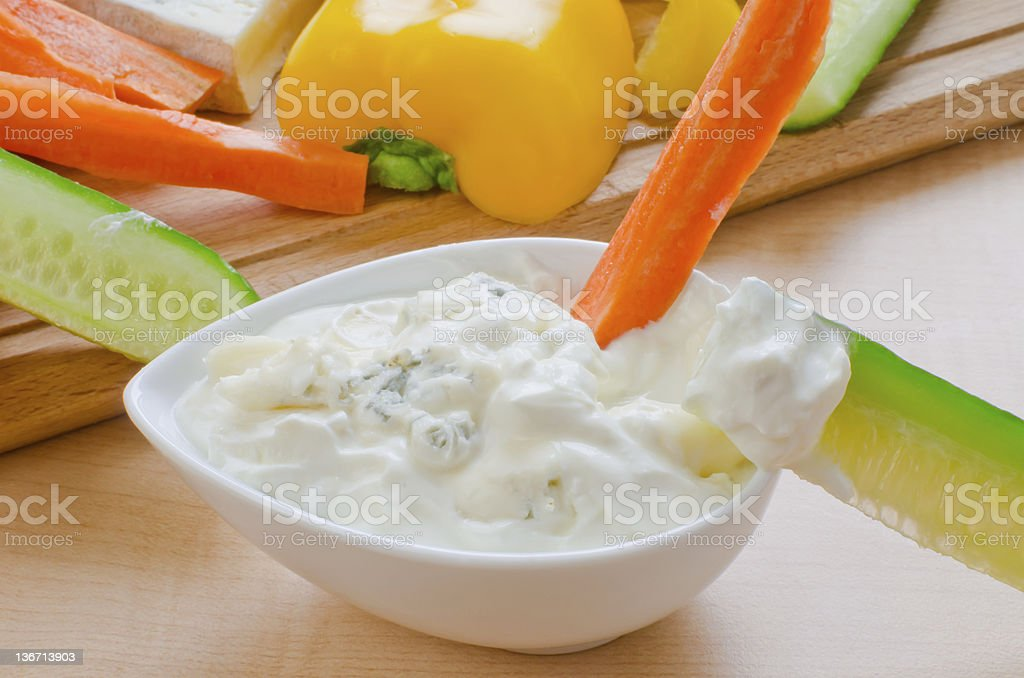 Blue cheese dressing stock photo