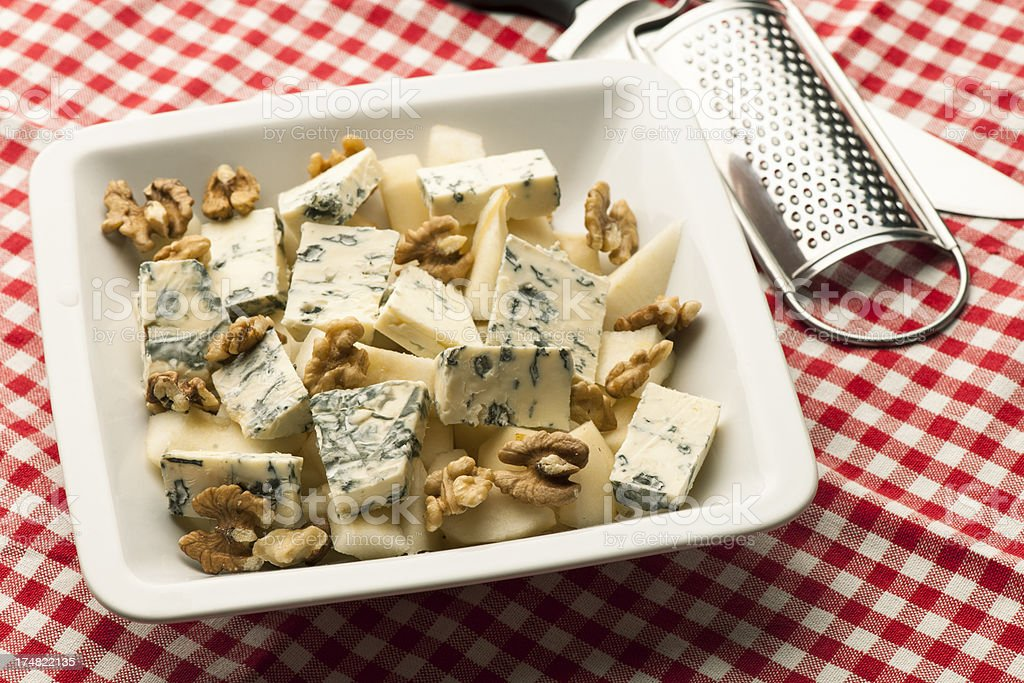Blue Cheese pear nut royalty-free stock photo