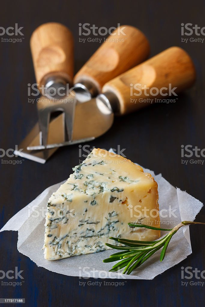Blue cheese. stock photo