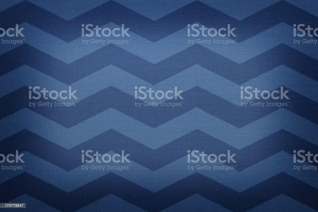 Blue chevron pattern fabric stock photo