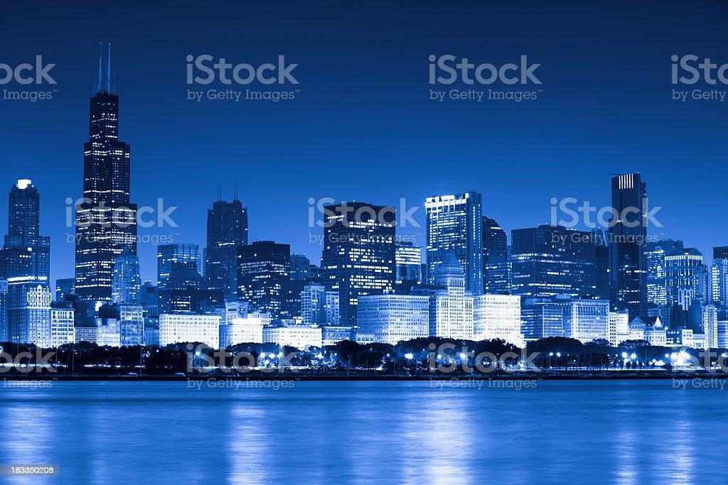 Blue Chicago stock photo