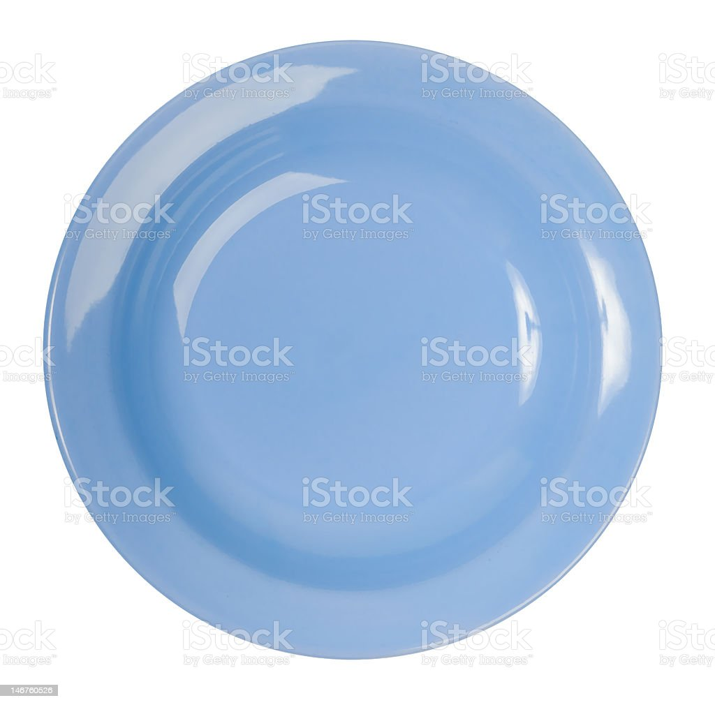 Blue china plate royalty-free stock photo