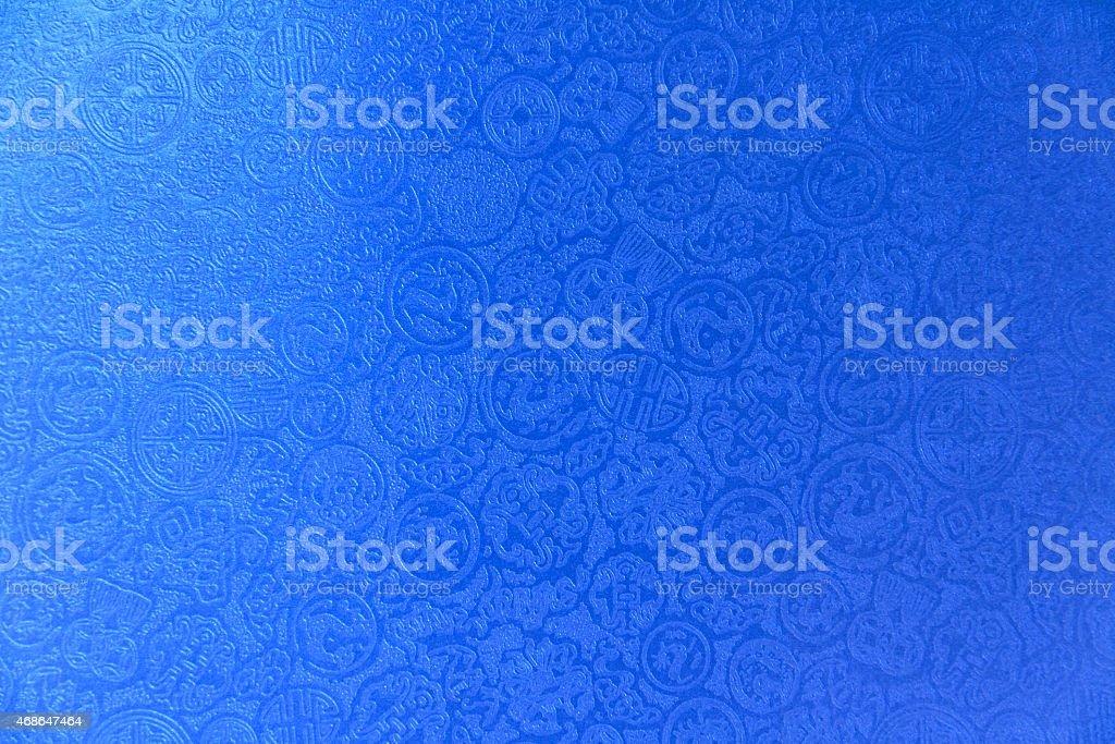 Blue chinese pattern background royalty-free stock photo