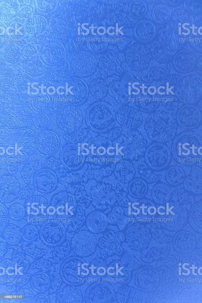 Blue Chinese pattern paper vertical royalty-free stock vector art