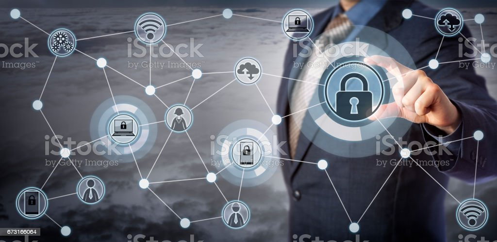 Blue Chip Client Remotely Locking Smart Devices stock photo