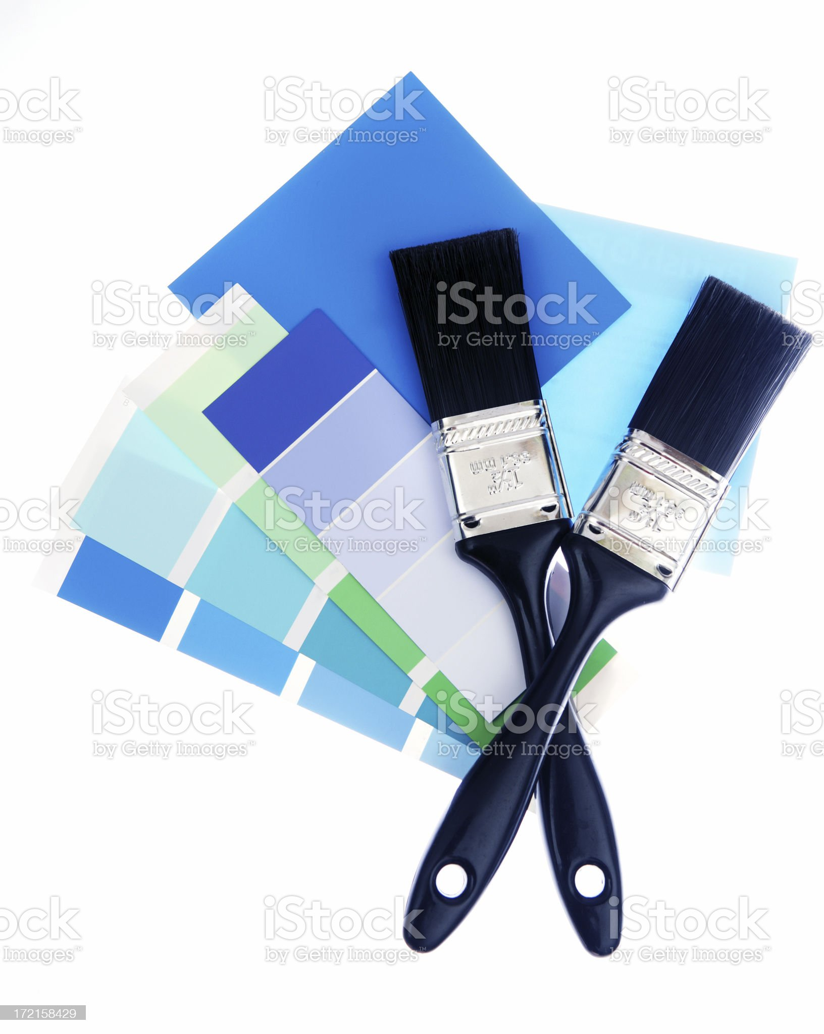 Blue Choices royalty-free stock photo
