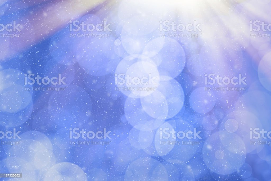 Blue Christmas background with snowing royalty-free stock photo