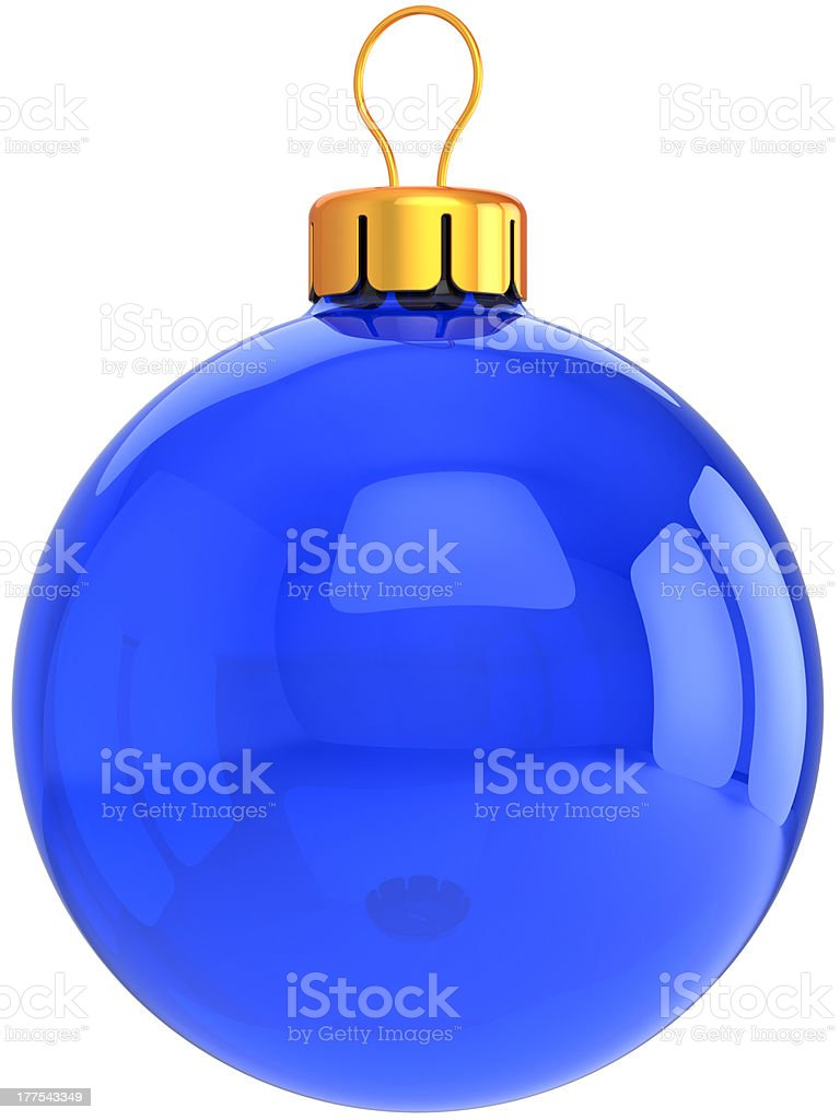 Blue Christmas ball Happy New year blank bauble classic royalty-free stock photo