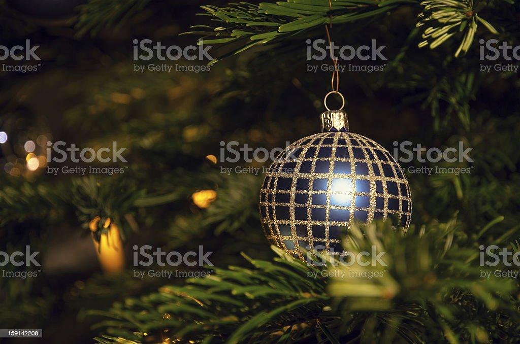 Blue Christmas Ball royalty-free stock photo