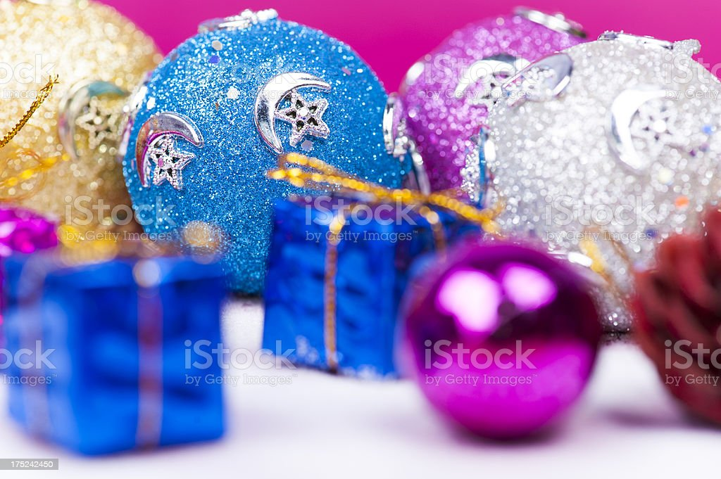 Blue Christmas ball royalty-free stock photo