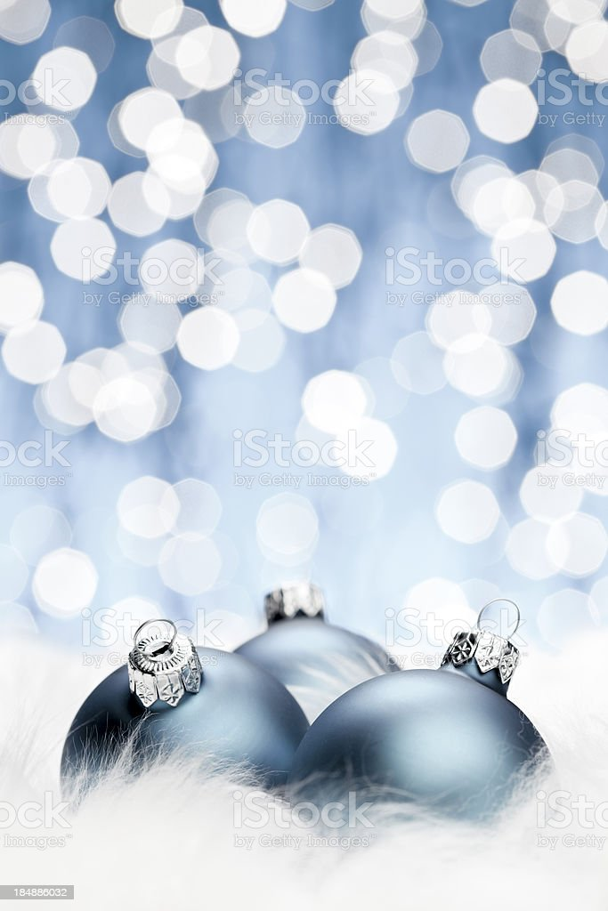 Blue Christmas Balls royalty-free stock photo