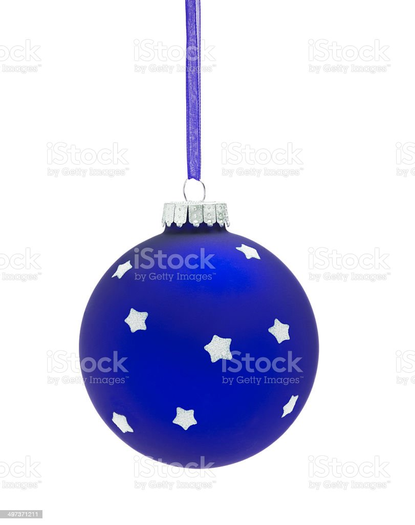 Blue Christmas Bauble royalty-free stock photo