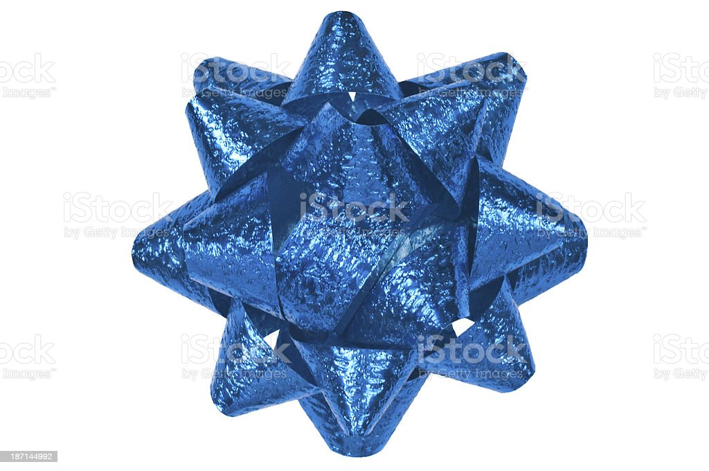 Blue Christmas bow royalty-free stock photo